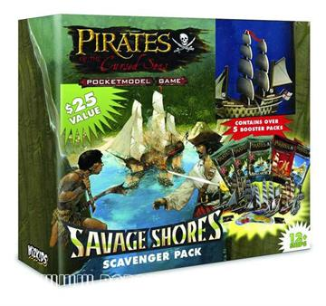 Pirates of the Cursed Seas Savage Shores Scavenger Pack Box