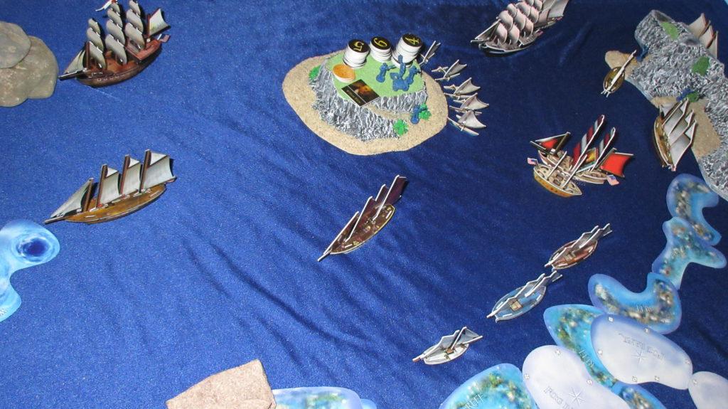 Silky blue ocean mat