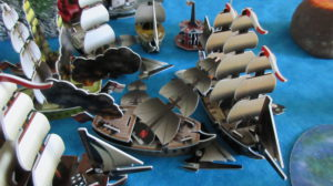 English fleet taking on the Spanish