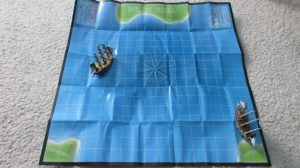 European Pirates of the Spanish Main ocean play mat map