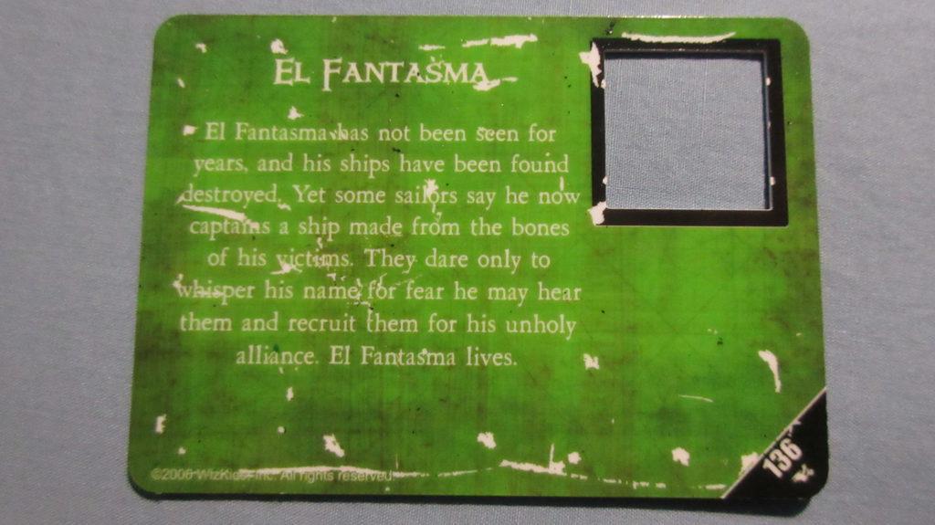 El Fantasma South China Seas scratched card