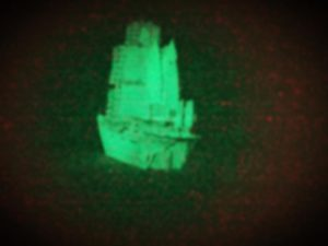 Delusion glow in the dark ship (Ain't No Grave fleet)