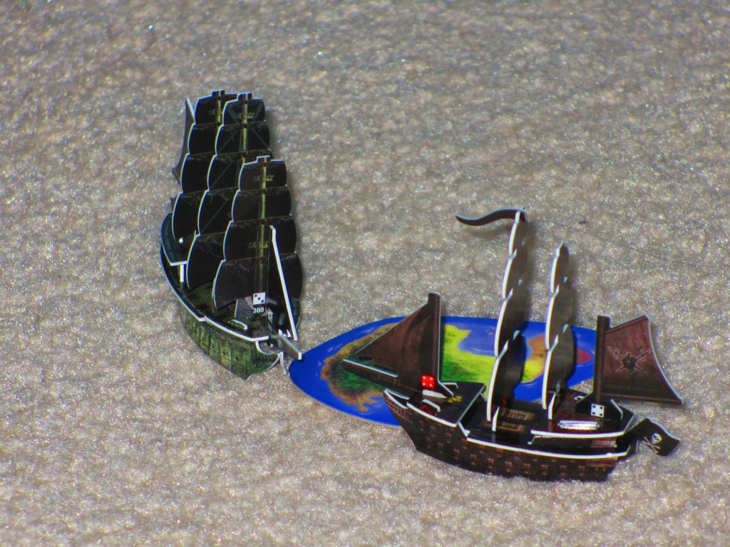 Pirate fleet at home island