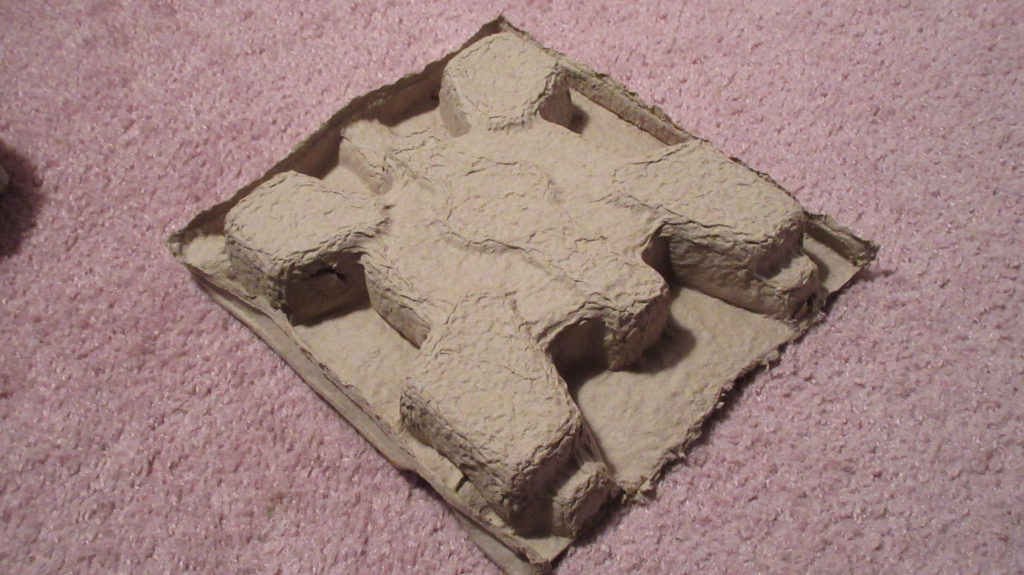 cardboard molding for turtle/fort