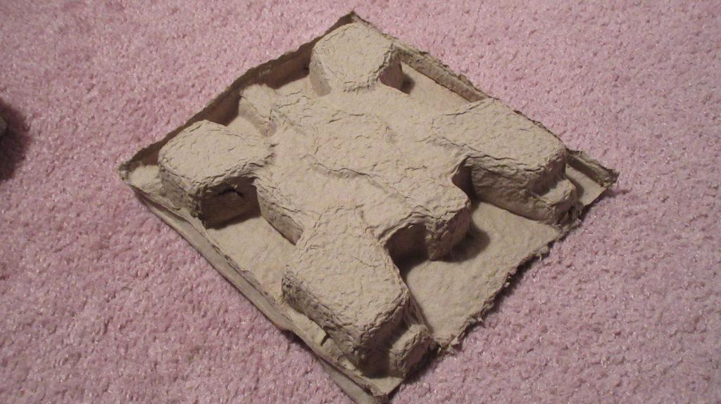 cardboard molding for turtle/fort