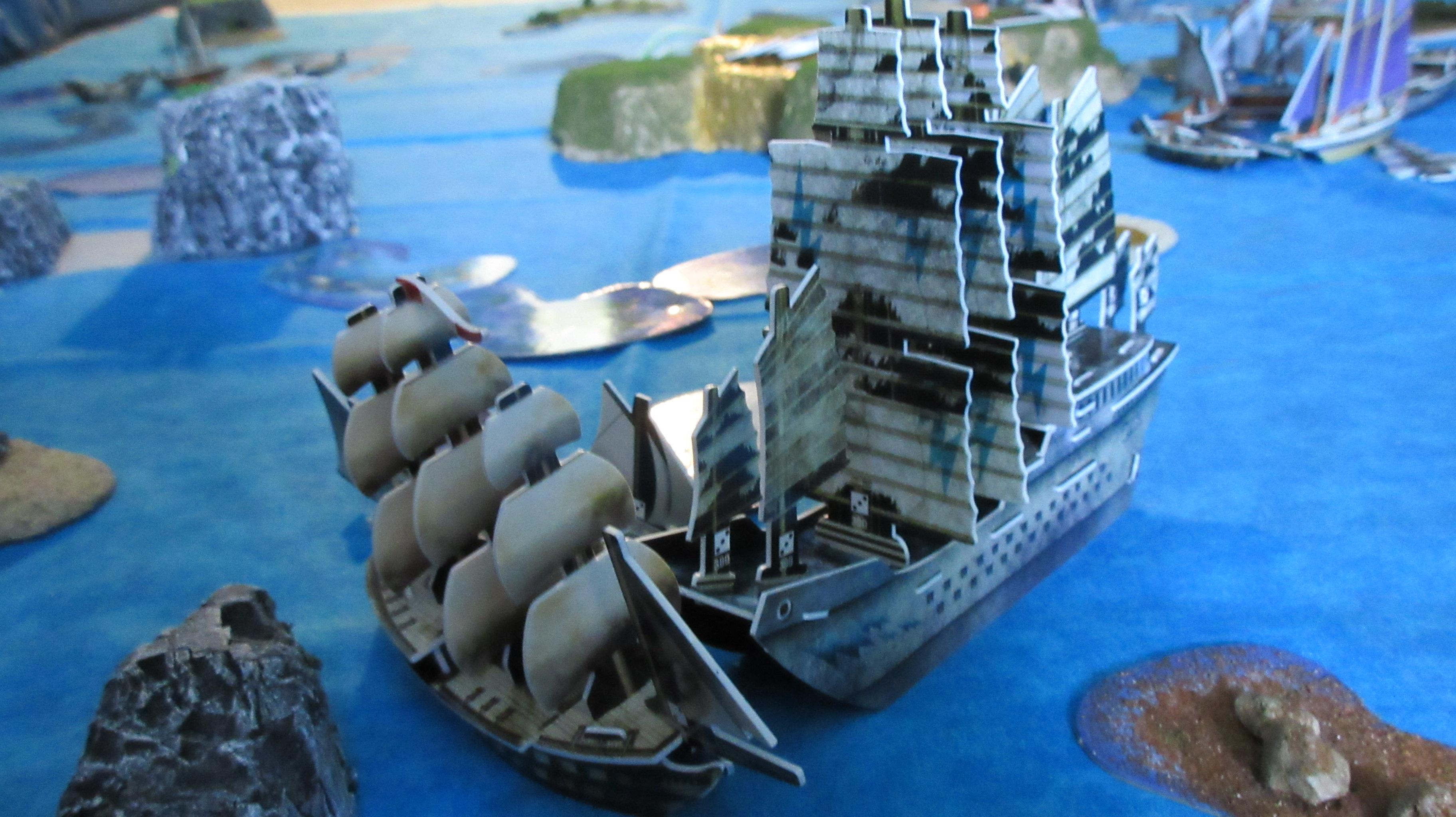 Zeus rams HMS Titan
