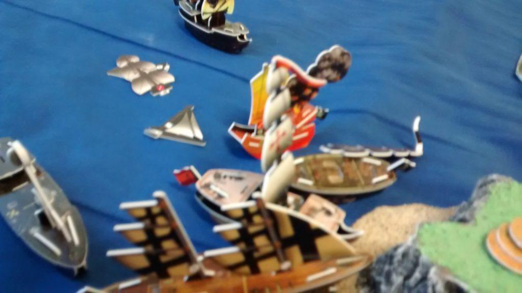combat on the ocean