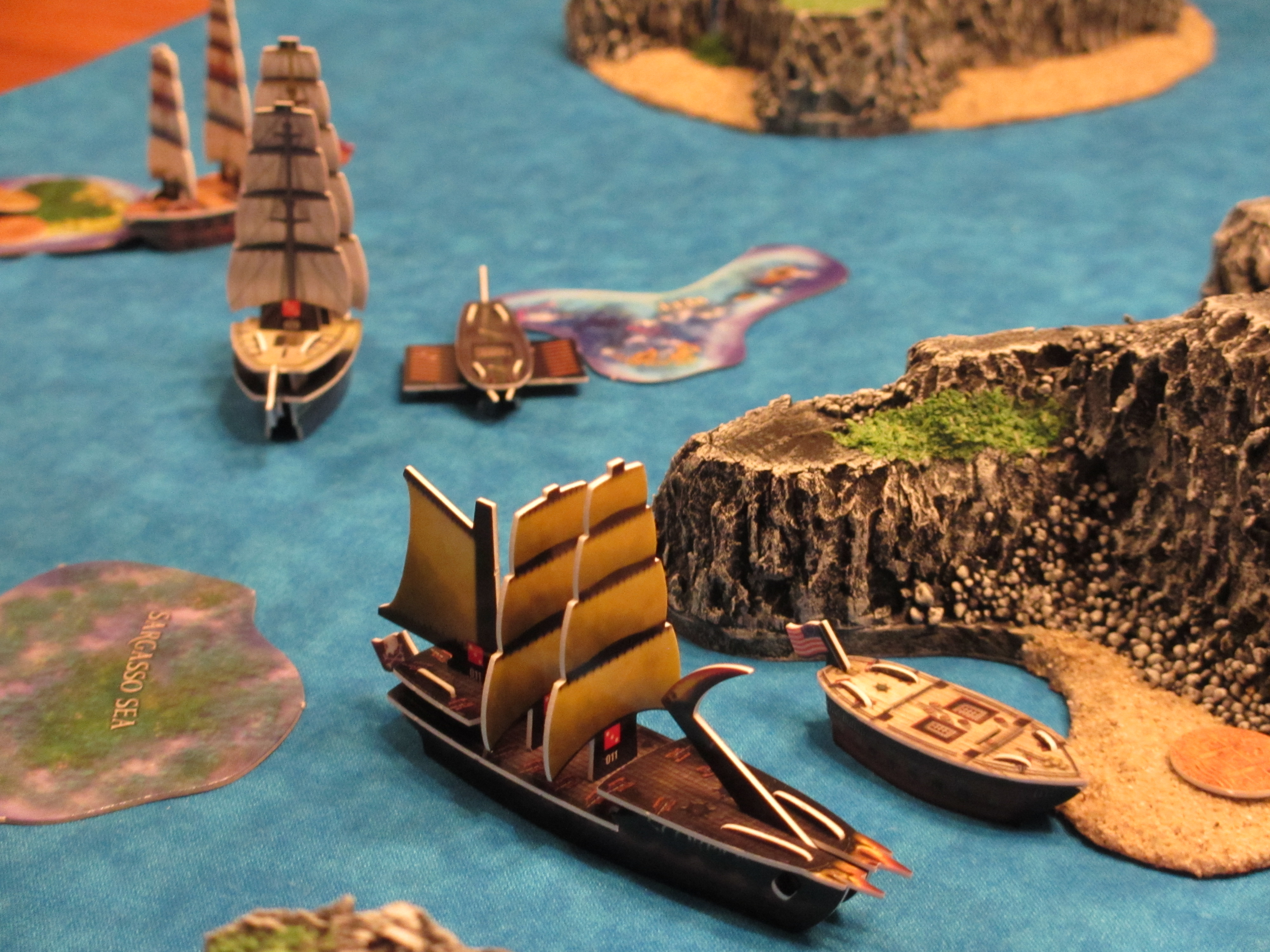 dismastings of ships at sea Wizkids Pirates
