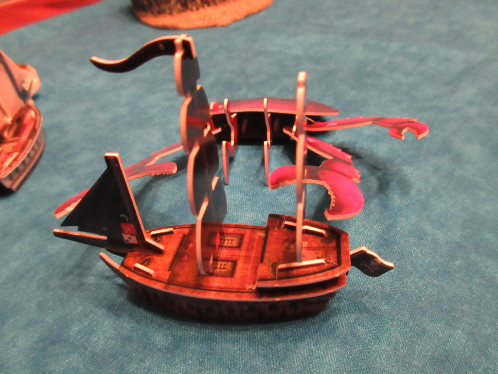 Brachyura attacks sailing ship