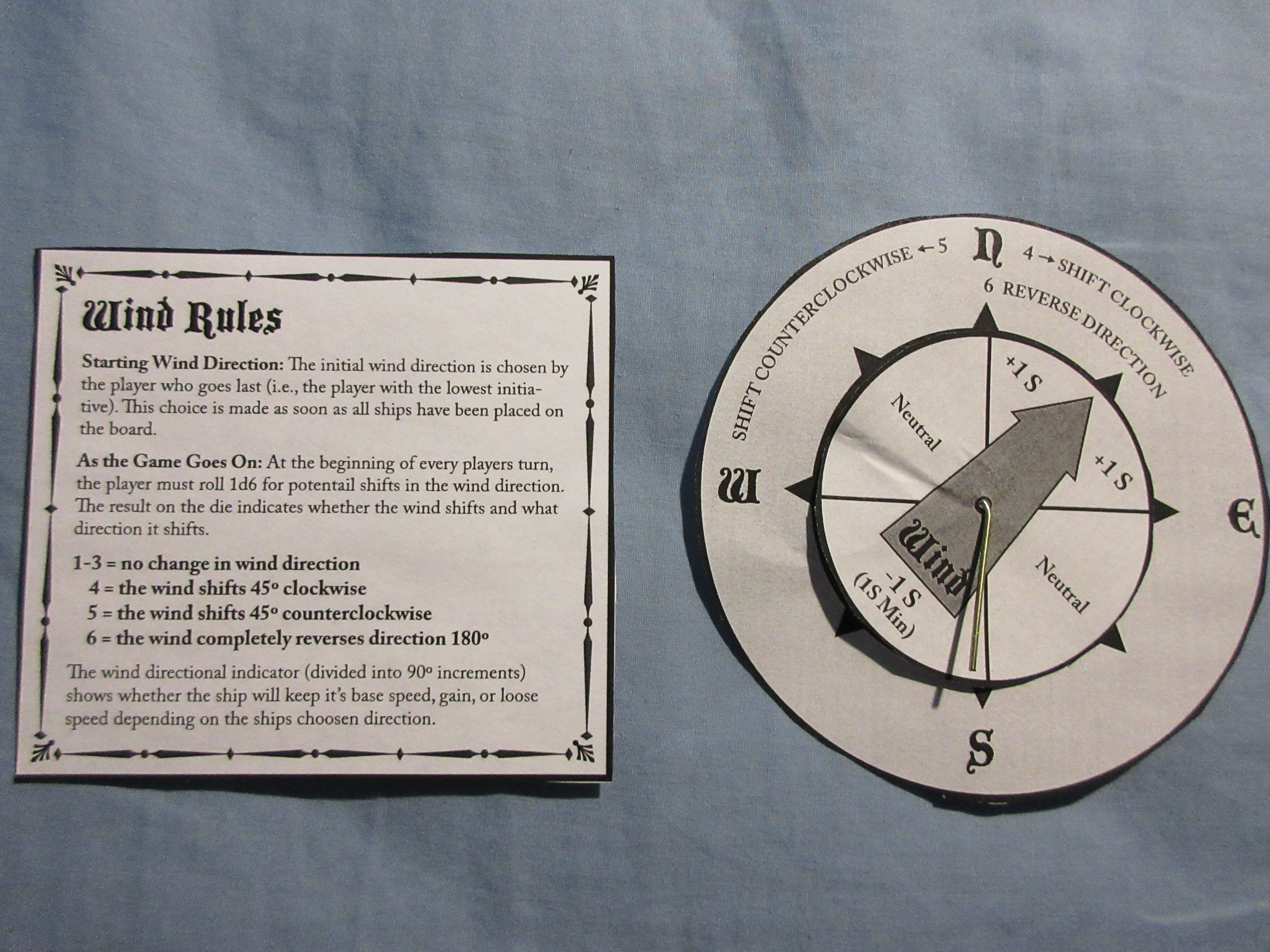 Wind rules and directional compass