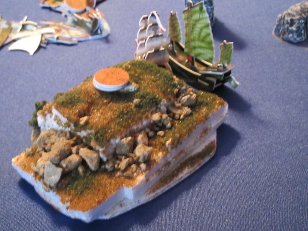 combat at island