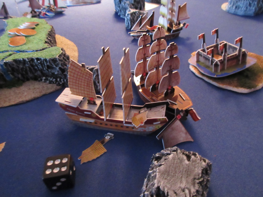 ships duking it out on the high seas