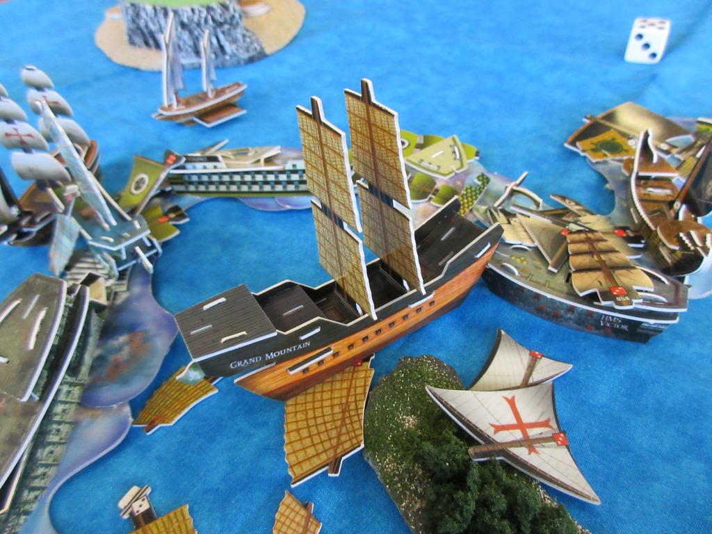 naval battle rages on