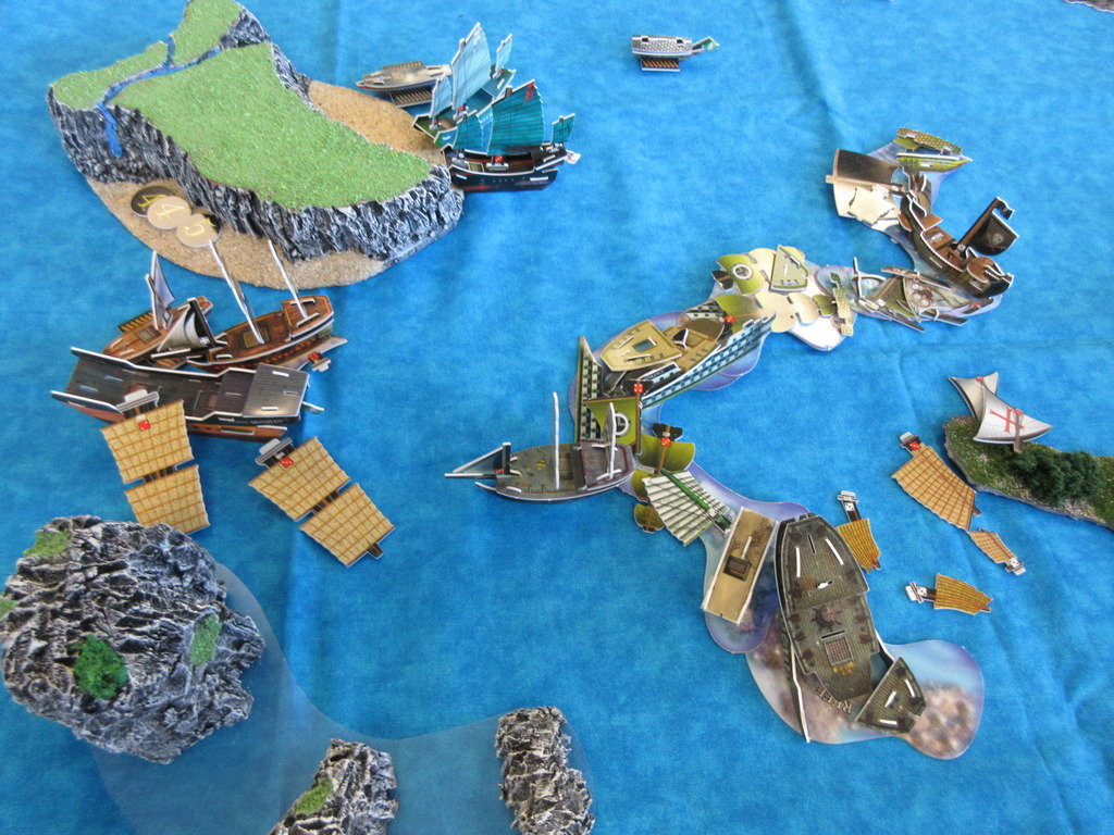 end of the game. South China Seas 10th Anniversary Game!  February 6th, 2016