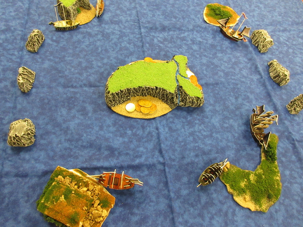 5 island setup for Pirates game