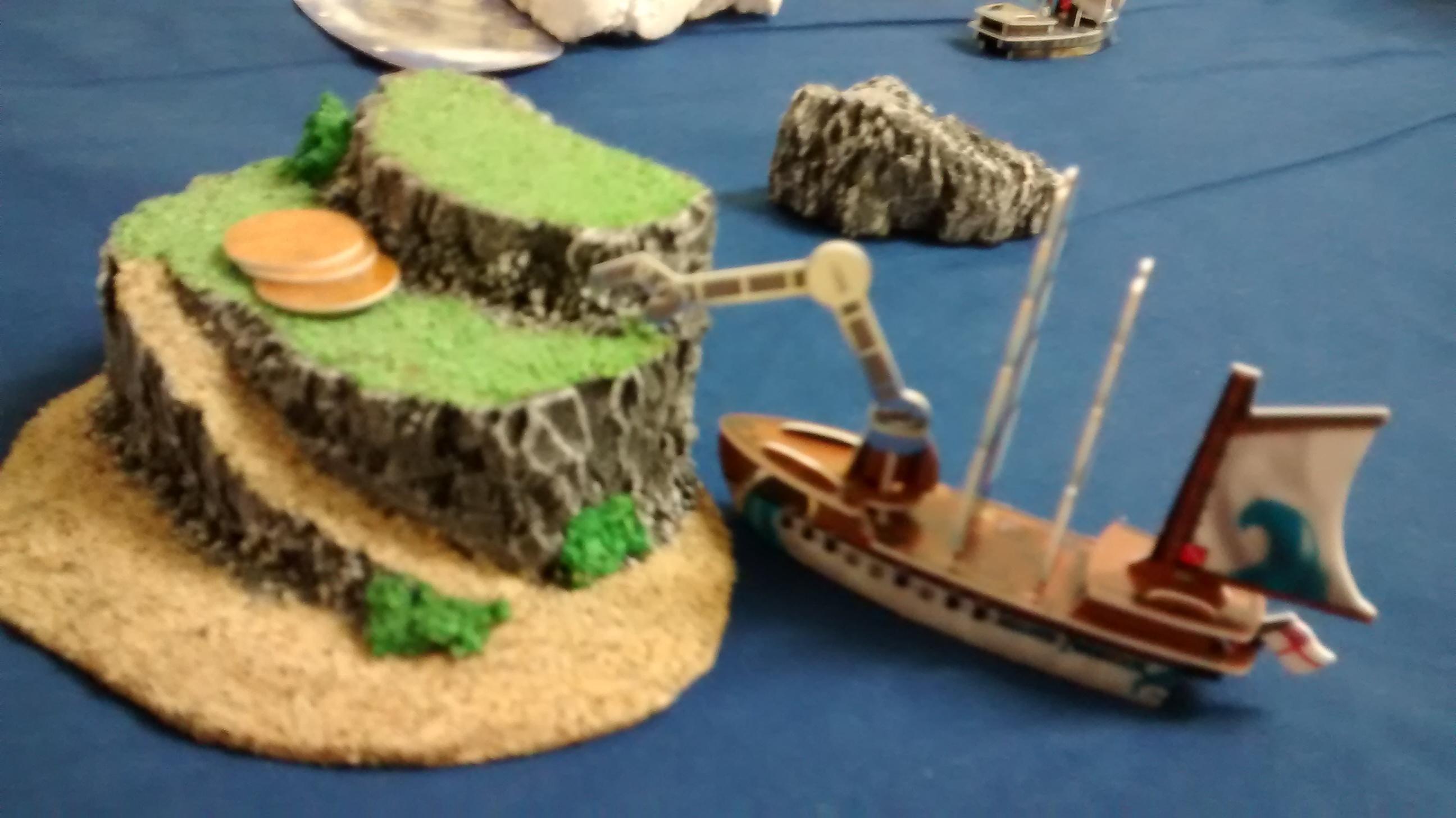 hoist explores wild island in Wizkids Pirates game