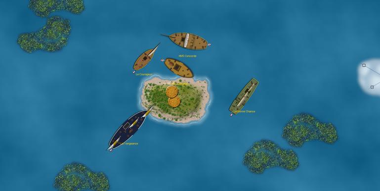 ships at wild island