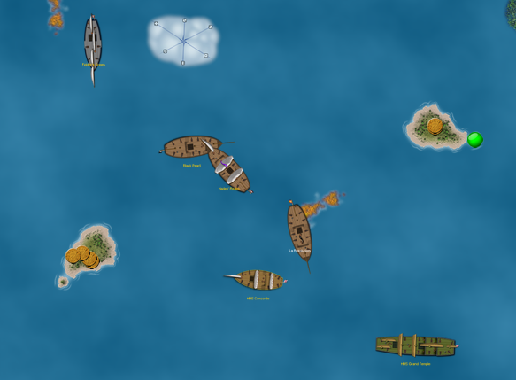 hot action on the Pirates CSG VASSAL module