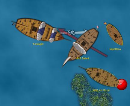 Pirates CSG combat on VASSAL