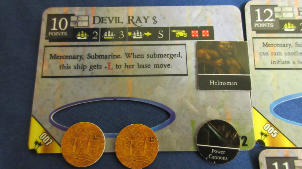 Devil Ray deckplate card