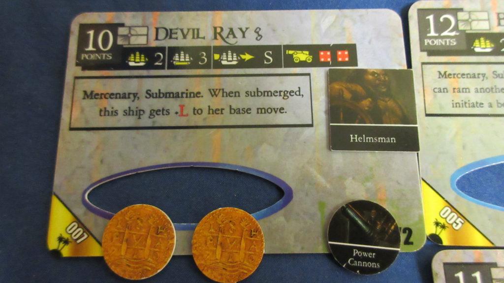Devil Ray deckplate card