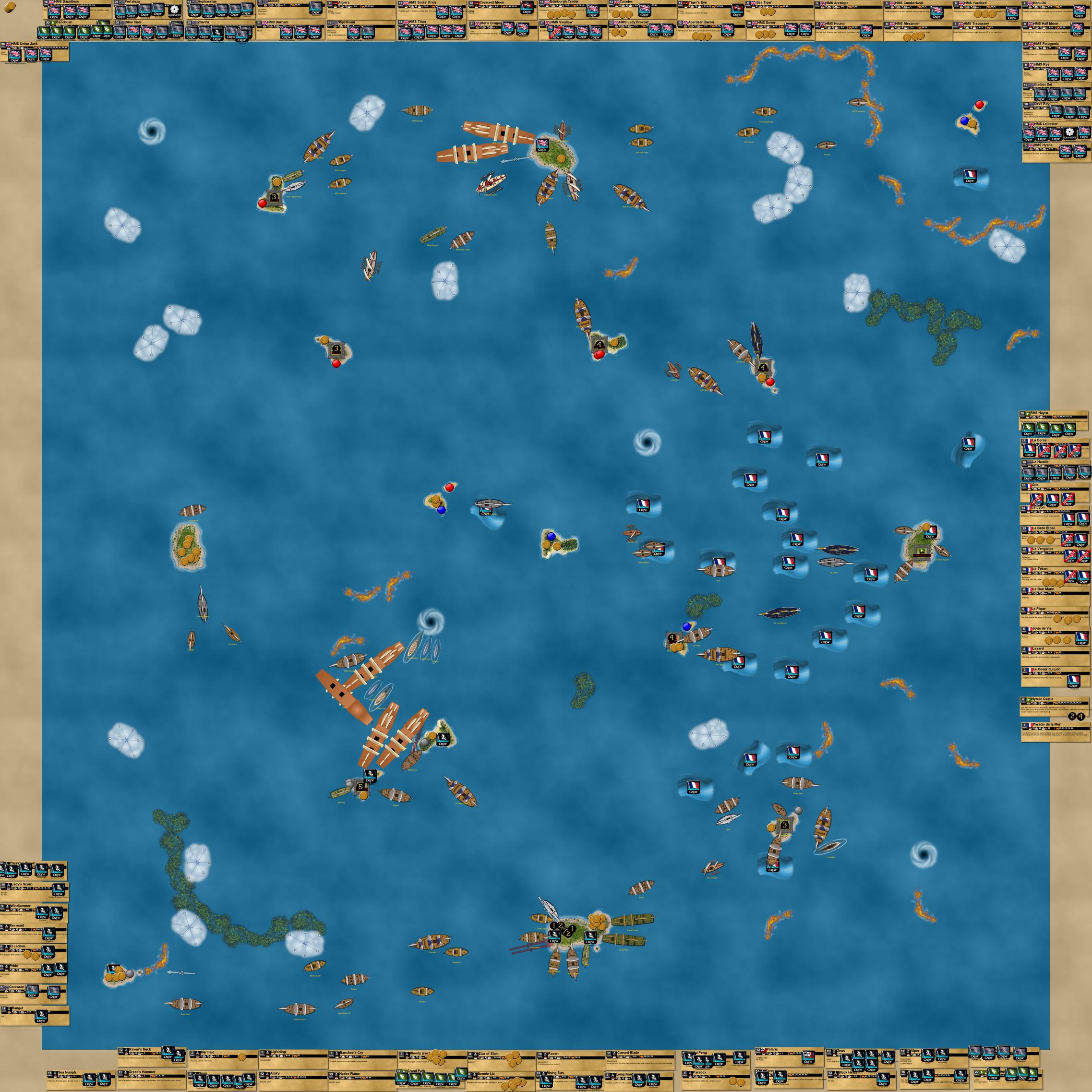VASSAL Campaign Game 2 (Pirates CSG game)
