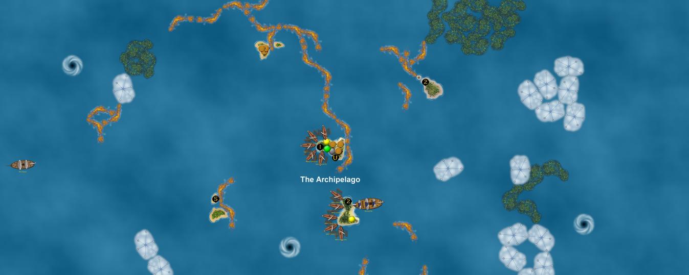 Spanish canoes at Archipelago islands