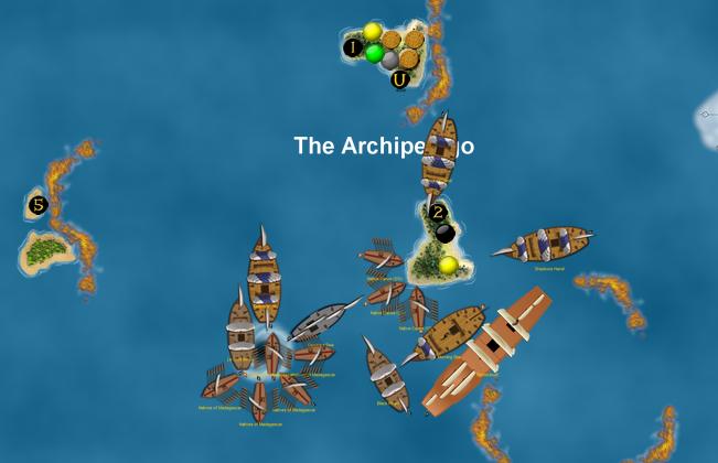 Pirates swarm the center!