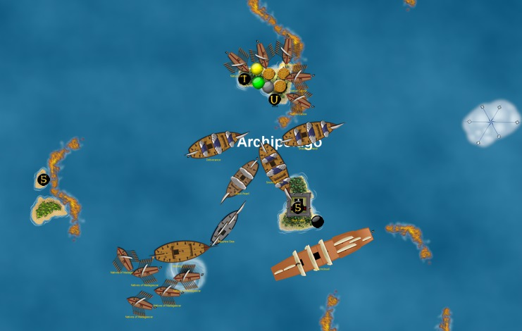 Archipelago dominated by the Pirates
