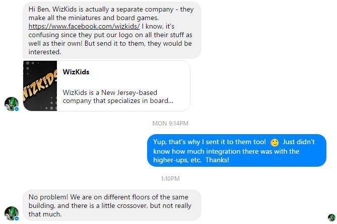 Not much integration between Wizkids and NECA