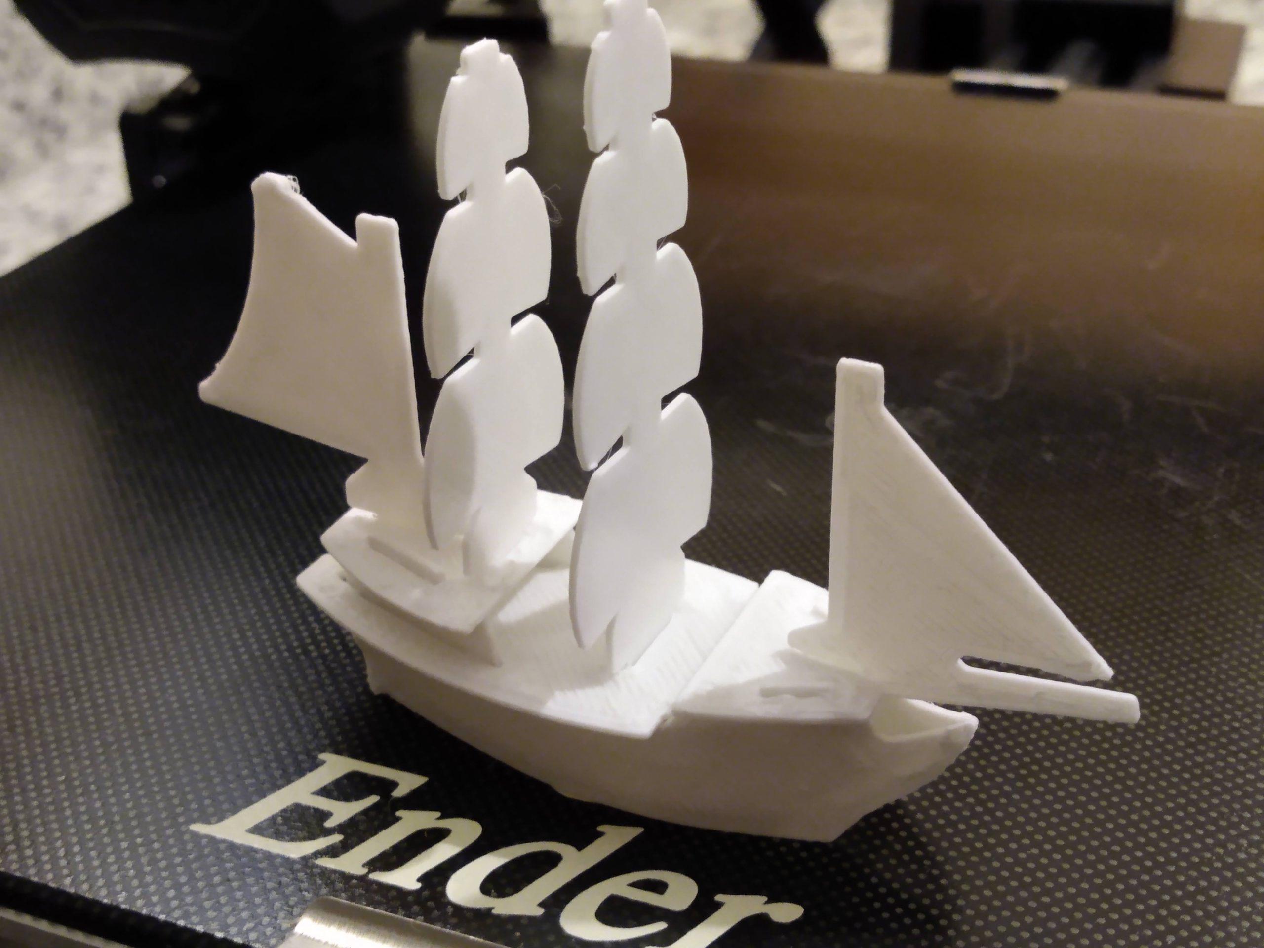 Ben's first 3D printed ship