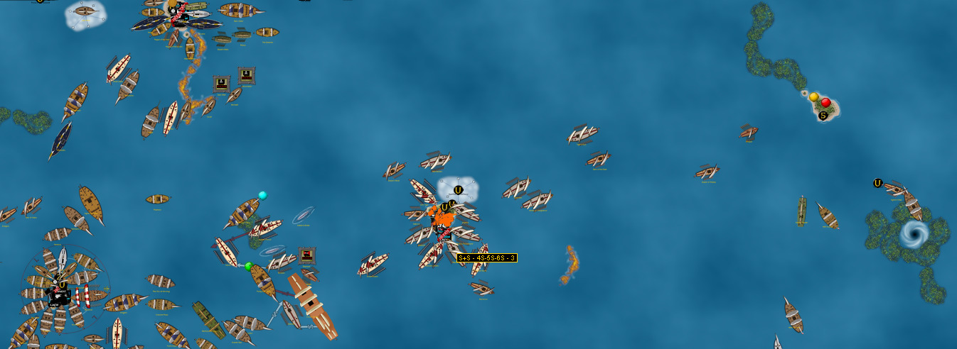 Barbary Corsair attack and launch in VASSAL Campaign Game 4